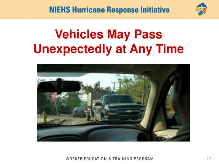 Vehicles May Pass Unexpectedly at Any Time