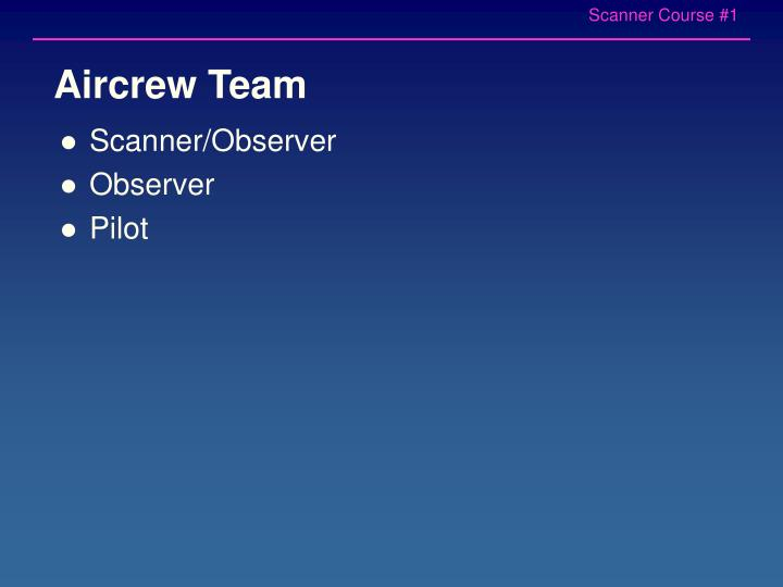 Aircrew Team
