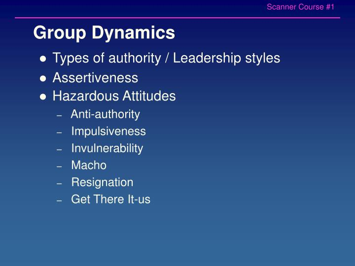 Types of authority / Leadership styles