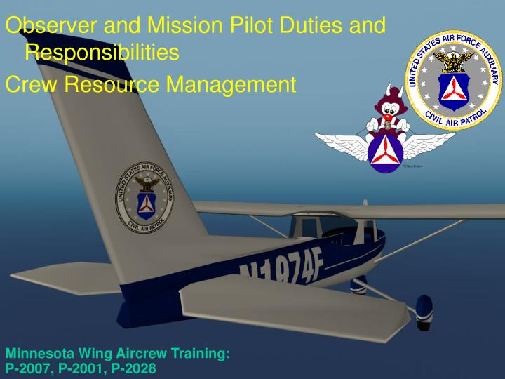 Minnesota wing aircrew training p 2007 p 2001 p 2028