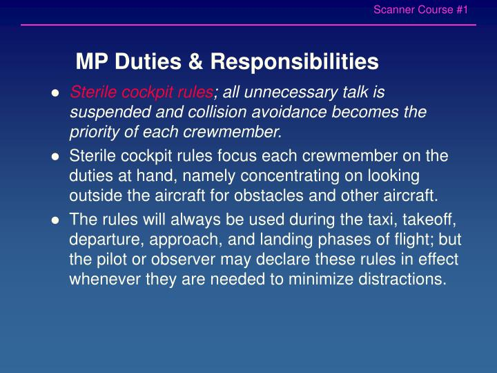 MP Duties & Responsibilities