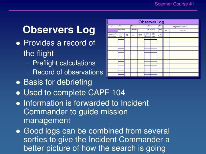 Observer Log