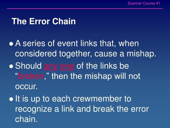 The Error Chain