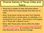 diverse names of texas cities and towns