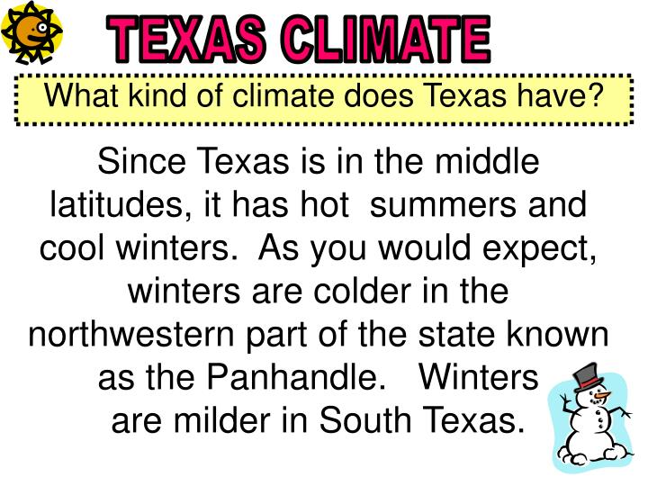 TEXAS CLIMATE