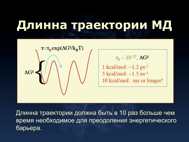 Длинна траектории МД