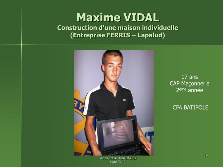 Maxime VIDAL