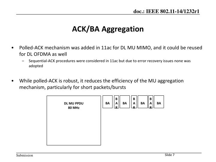 Polled-ACK mechanism was added in 11ac for DL MU MIMO, and it could be reused for DL OFDMA as well