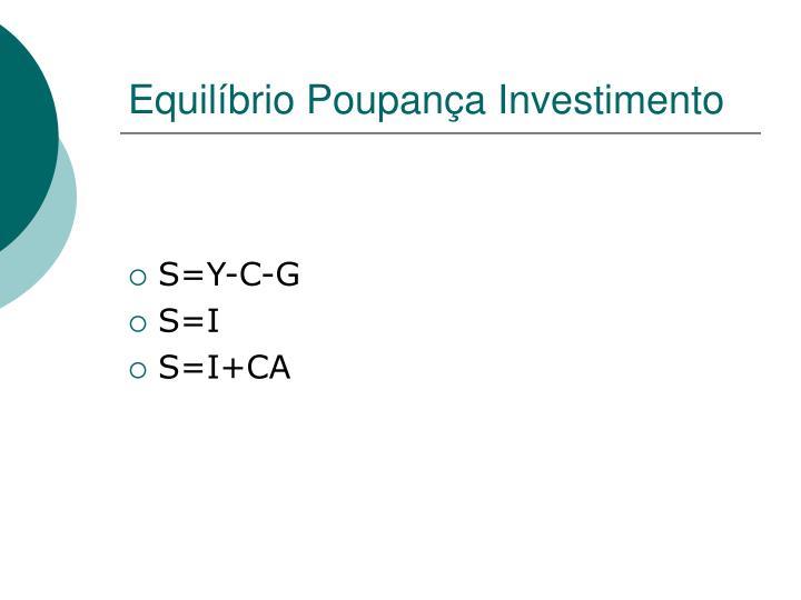 Equilíbrio Poupança Investimento
