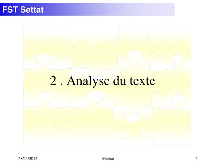 2. Analyse du texte