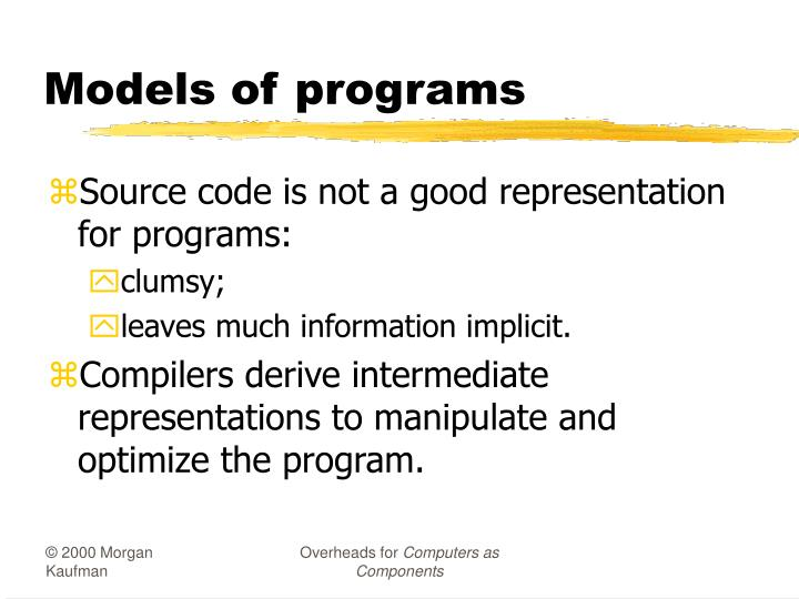 Models of programs