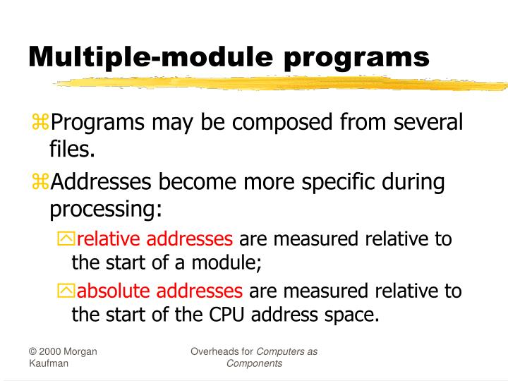 Multiple-module programs
