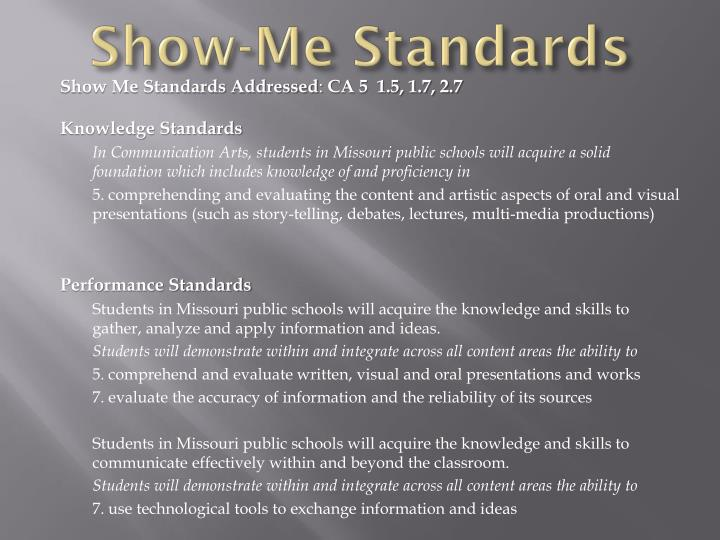 Show-Me Standards