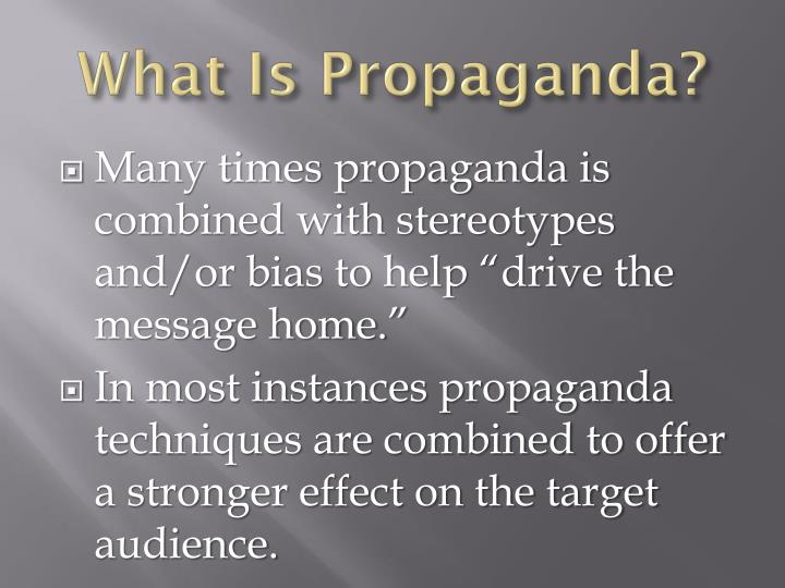 What Is Propaganda?