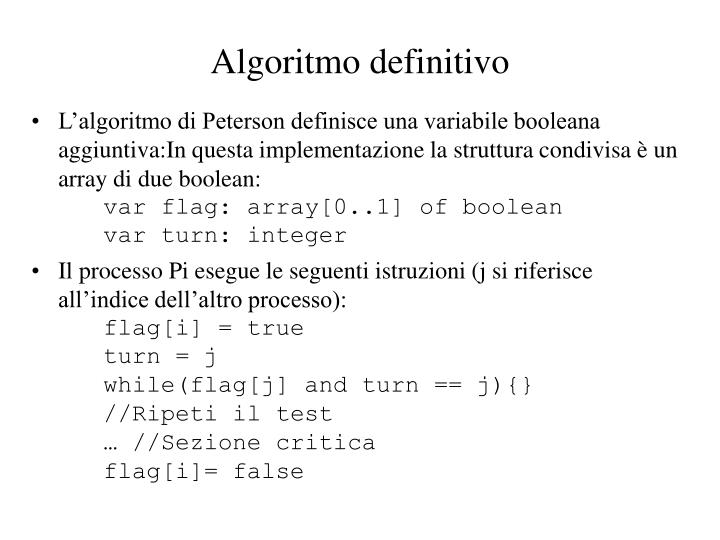 Algoritmo definitivo