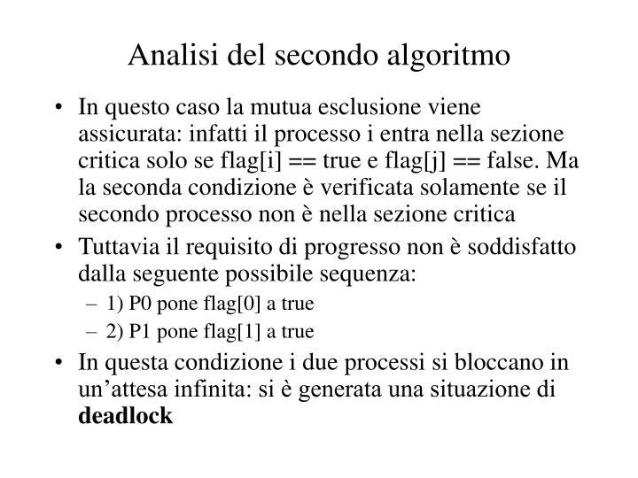 Analisi del secondo algoritmo