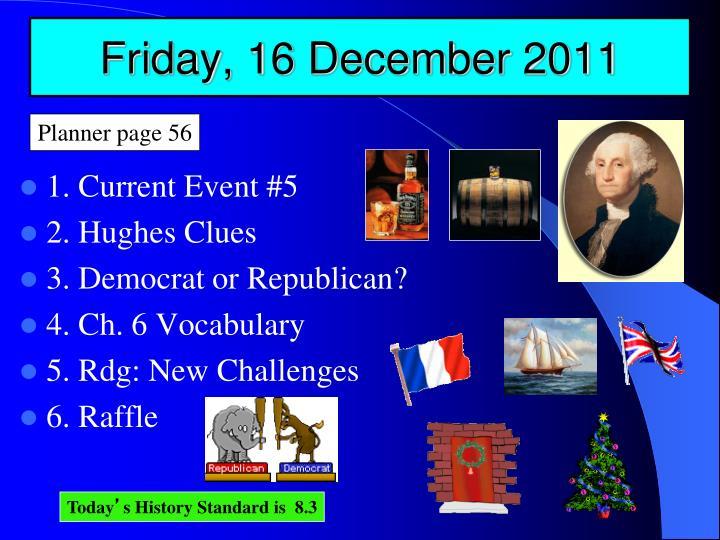 Friday, 16 December 2011