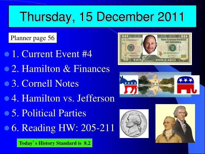 Thursday, 15 December 2011
