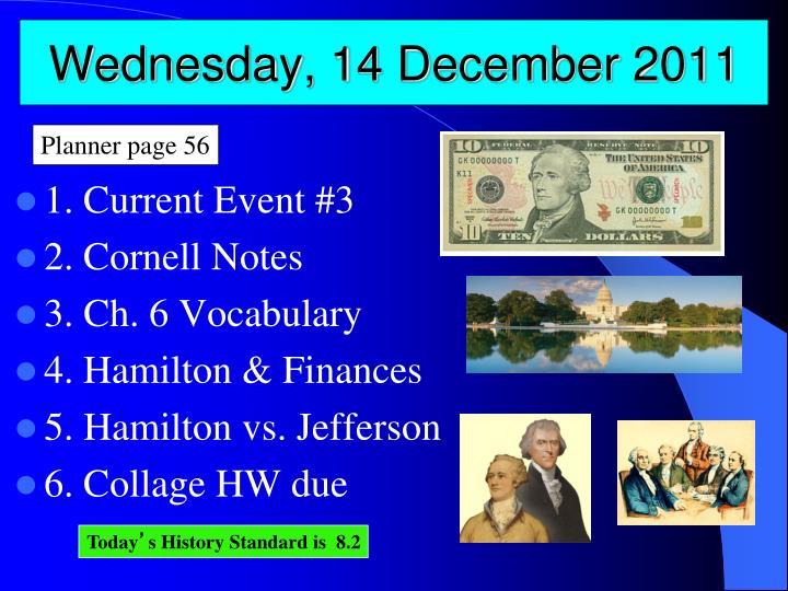 Wednesday, 14 December 2011