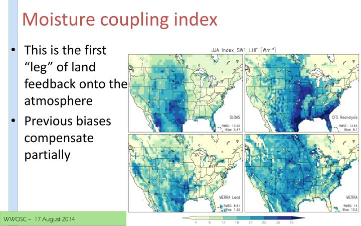 Moisture coupling index