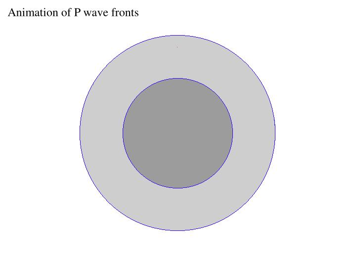 Animation of P wave fronts