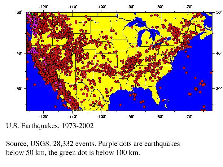 U.S. Earthquakes, 1973-2002