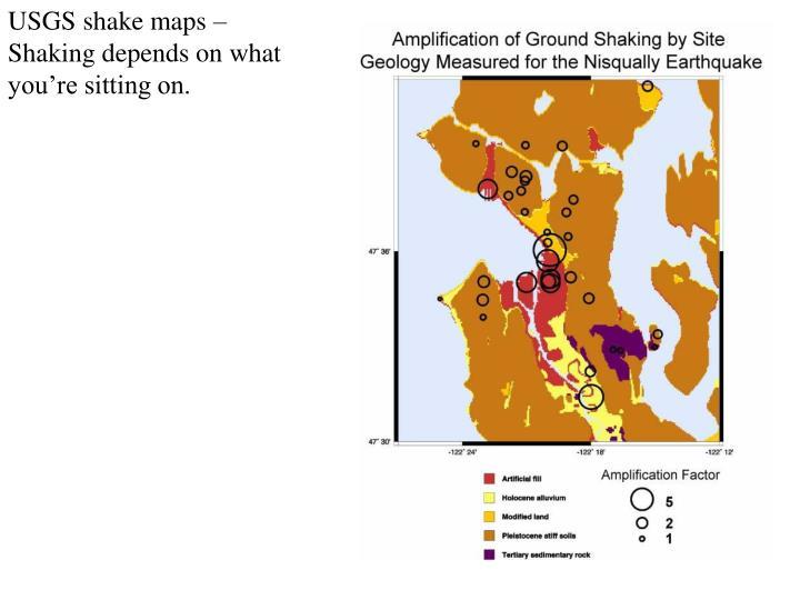 USGS shake maps –