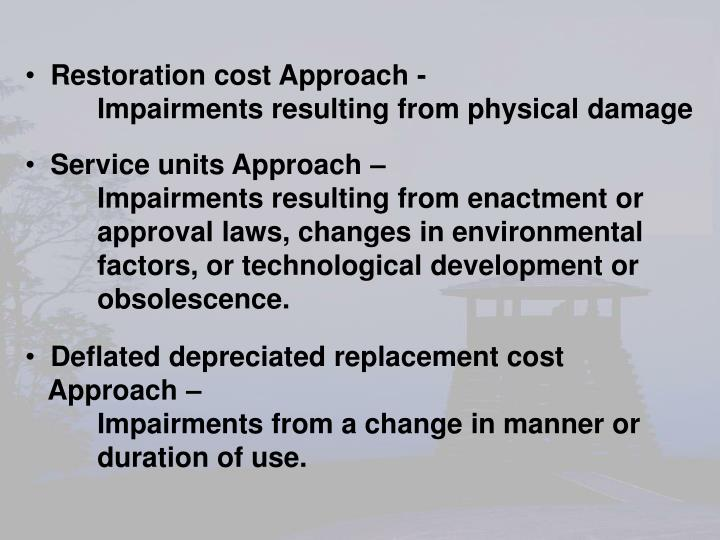 Restoration cost Approach -