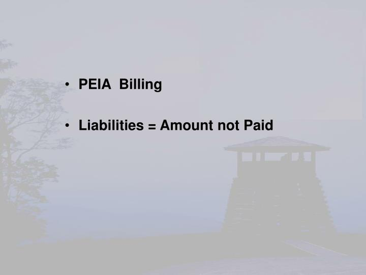 PEIA  Billing