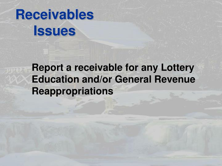 Receivables Issues
