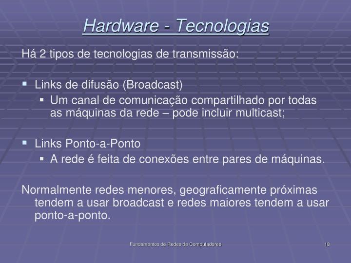 Hardware - Tecnologias