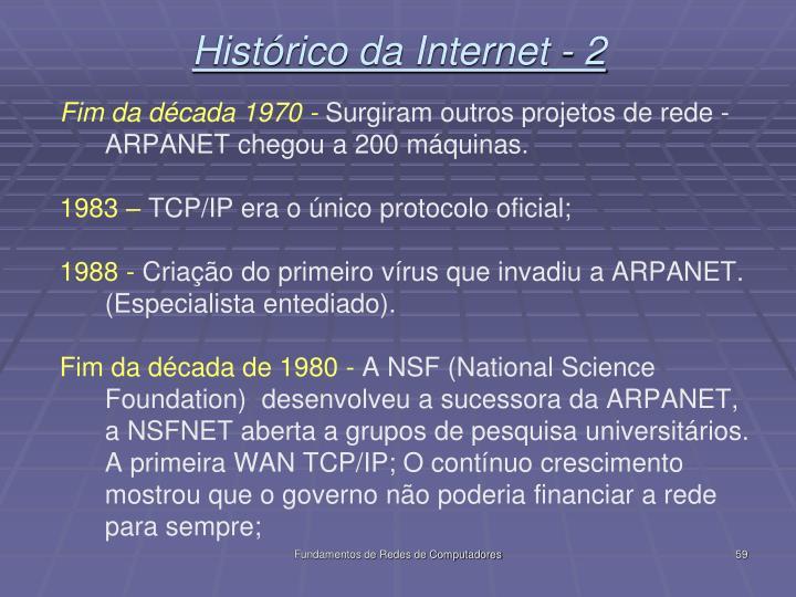 Histórico da Internet - 2