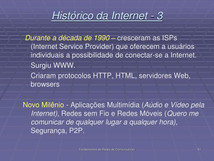 Histórico da Internet - 3