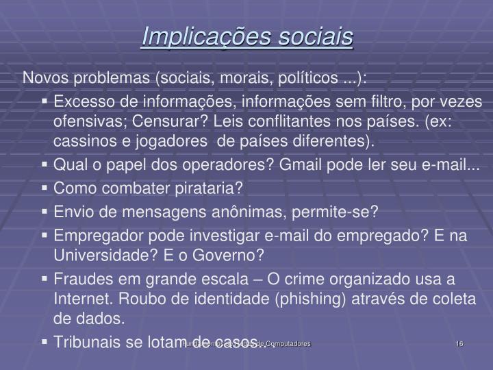 Implicações sociais