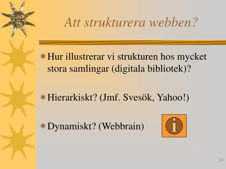 Att strukturera webben?