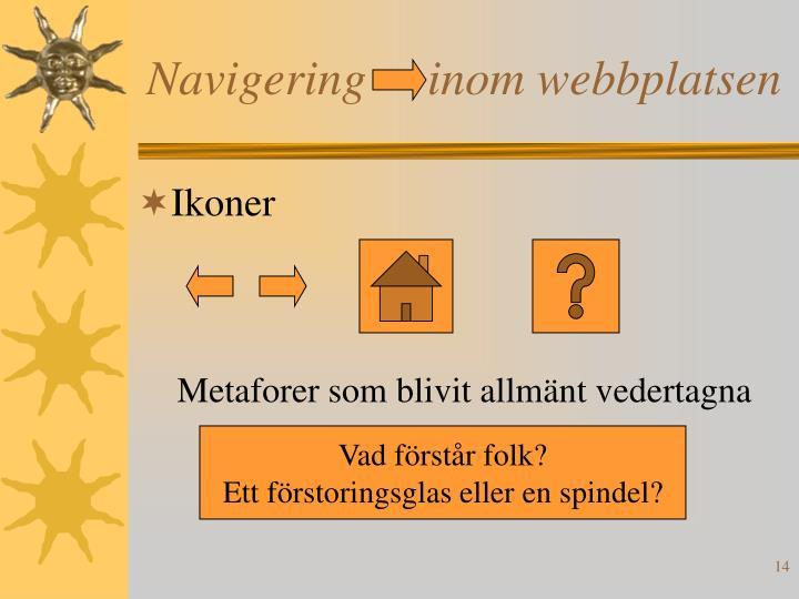 Navigering     inom webbplatsen