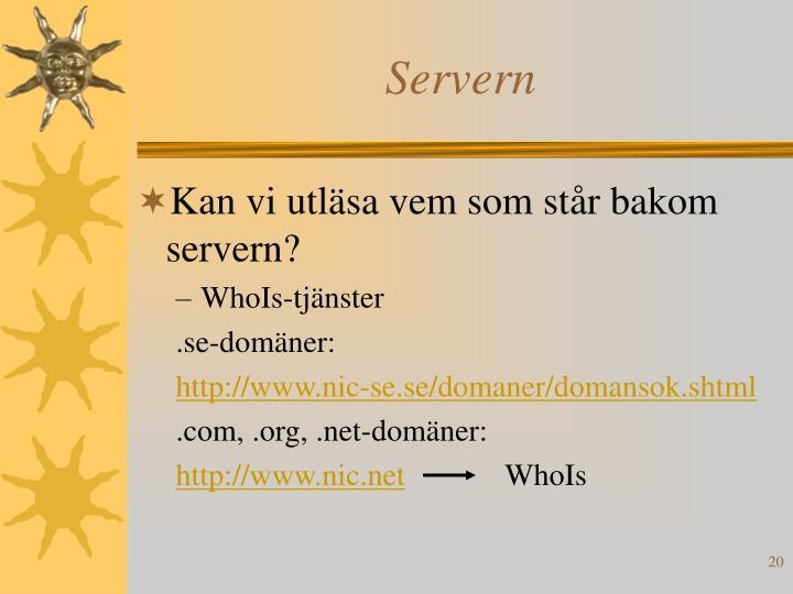 Servern
