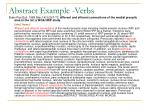 abstract example verbs