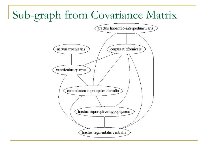 Sub-graph from Covariance Matrix