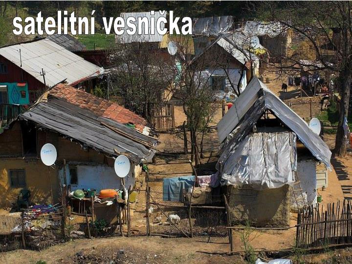 satelitní vesnička