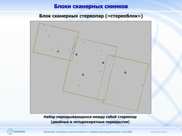 Блоки сканерных снимков