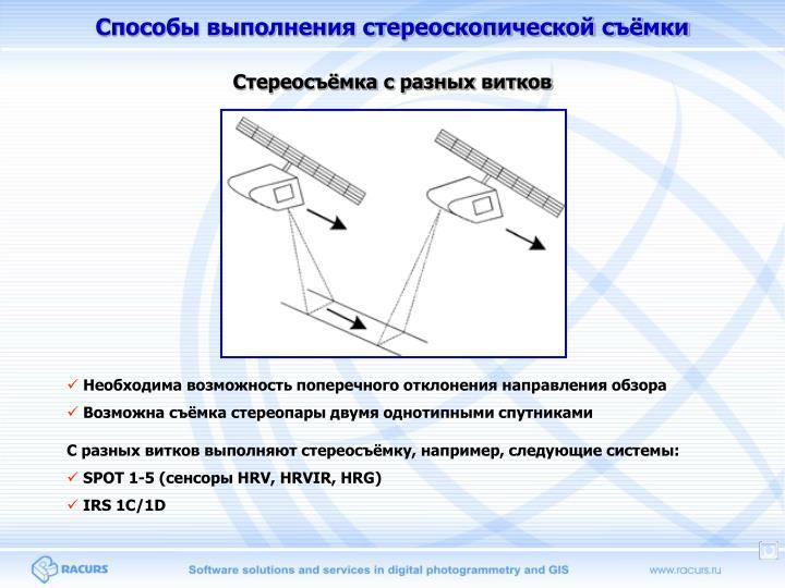 Способы выполнения стереоскопической съёмки