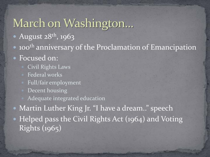 March on Washington...