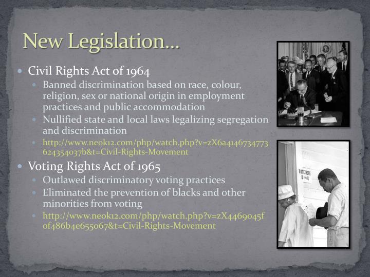 New Legislation...