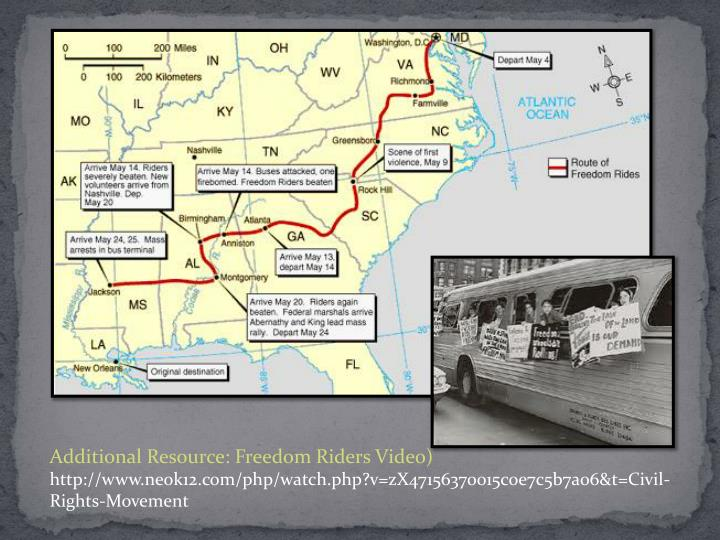 Additional Resource: Freedom Riders Video)