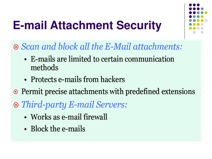 E-mail Attachment Security