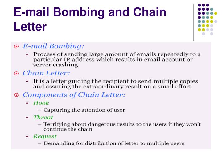 E-mail Bombing and Chain Letter