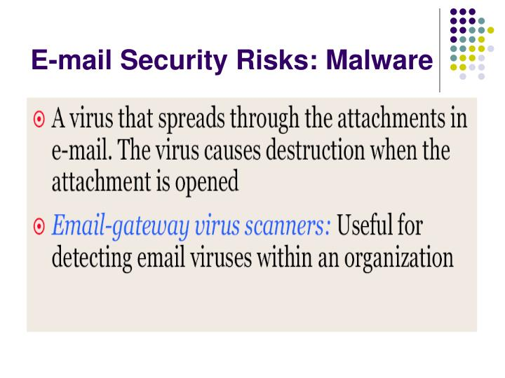 E-mail Security Risks: Malware