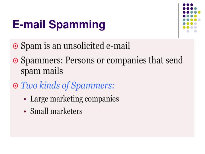 E-mail Spamming