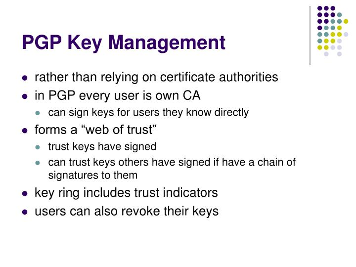 PGP Key Management